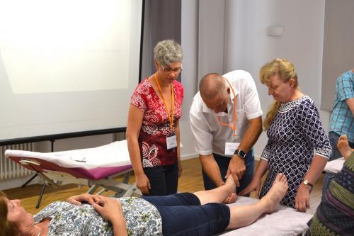 Marion Raab und Lutz Scheuerer Osteopathie Workshop