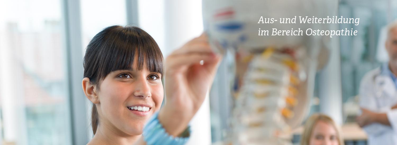 Aus- und Weiterbildung im Bereich Osteopathie